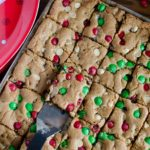 Christmas M&M Cookie Bars