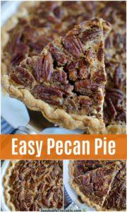 pinterest collage for pecan pie