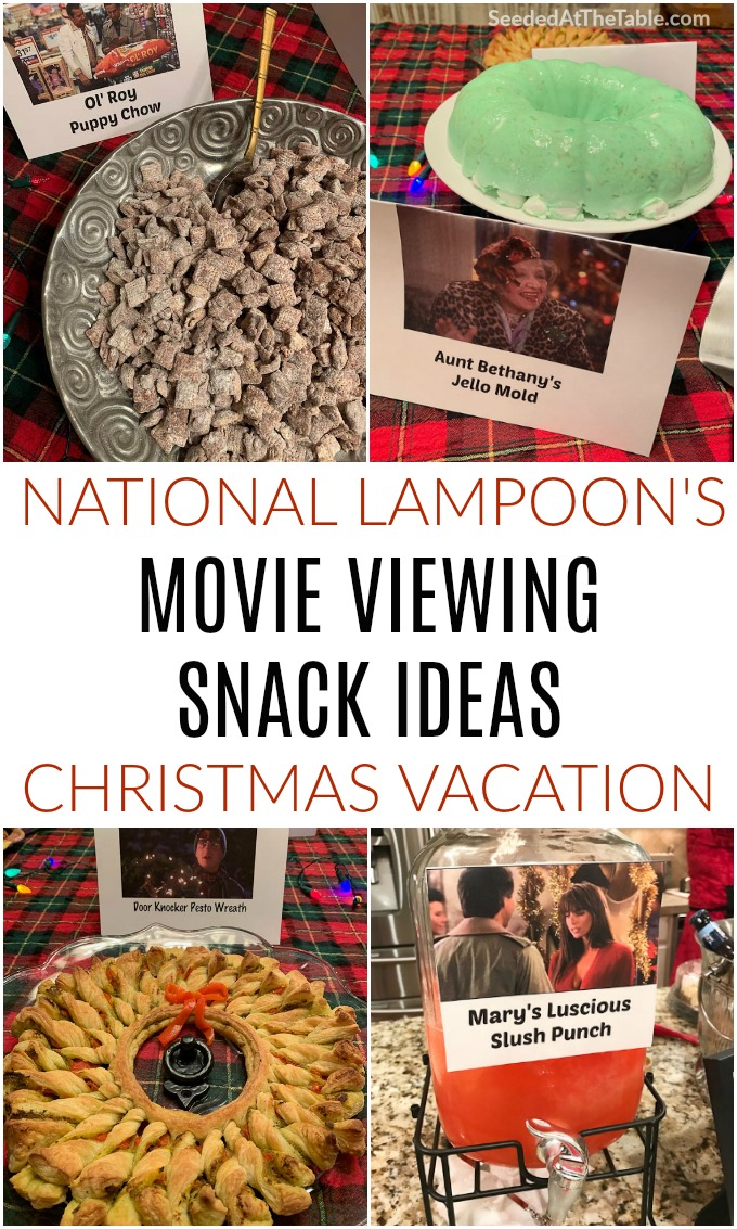 We hosted our 2nd annual National Lampoon's Christmas Vacation Movie Party. Sharing Griswold-inspired decorations, costumes, snacks and drinks to have your own Christmas Vacation movie party.