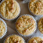 top view of almond flour banana muffins
