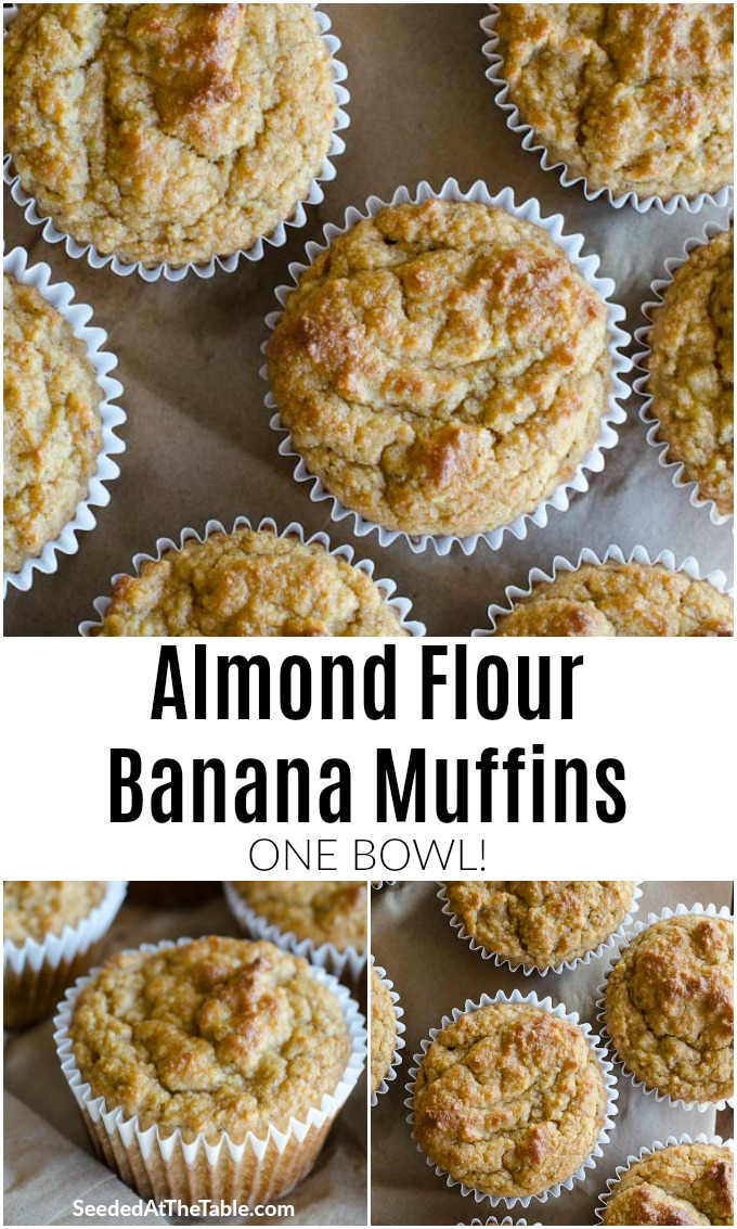 These Almond Flour Banana Muffins are low-carb, gluten-free and include no refined sugars. The muffins are sweetened naturally with the bananas and almond flour and can be frozen for a convenient breakfast!