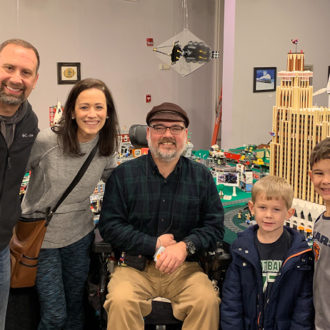 Keep Building Jackson artist Dr. Scott Crawford - a miniature model of downtown Jackson, MS built with all LEGO blocks.