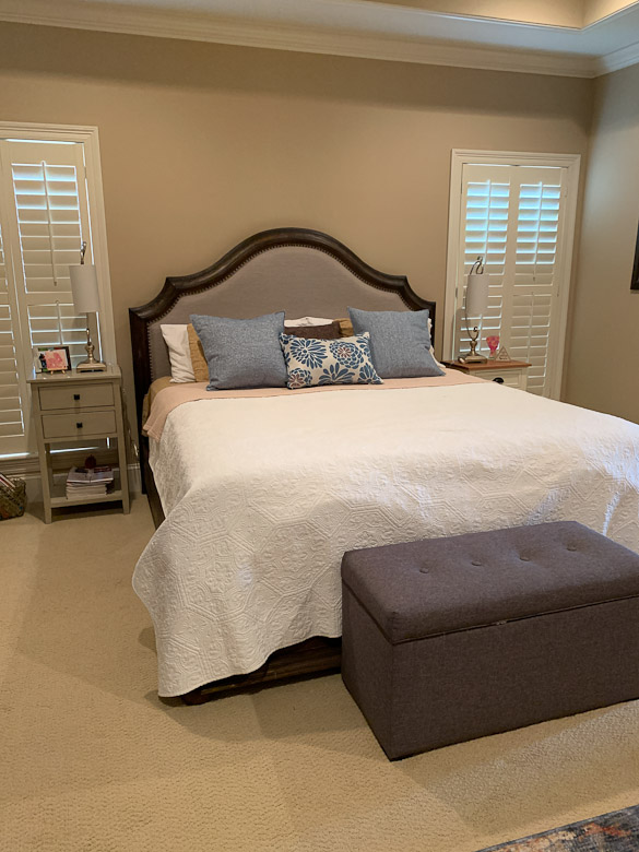 Master bedroom makeover - need new end tables