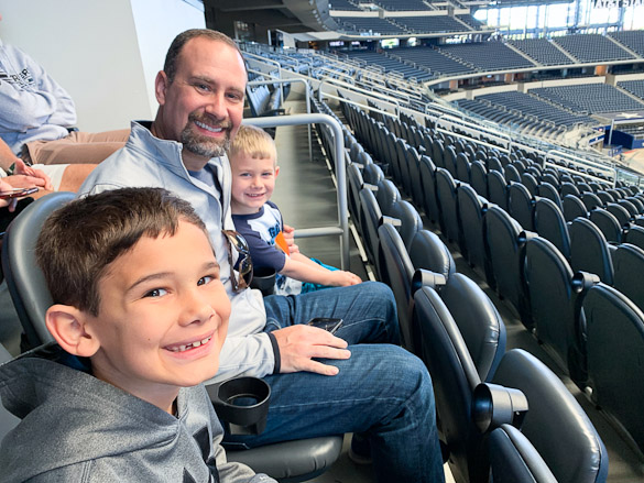 We had the opportunity to tour the AT&T Stadium -- home of the Dallas Cowboys.  My football loving family thoroughly enjoyed touring the entire stadium, from the gift shop, to the field, to the locker rooms and more!  Scroll for more about our experience and to view photos of our tour.