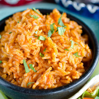 Bowl of Mexican rice.