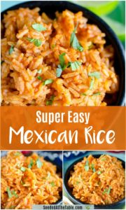 Pinterest collage of Mexican Rice.