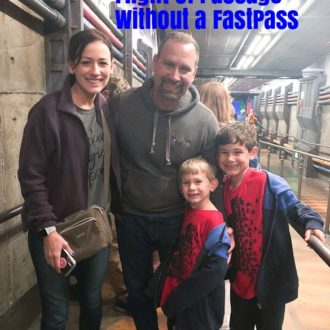 Title photo for tips to ride Flight of Passage with Disney family photo.