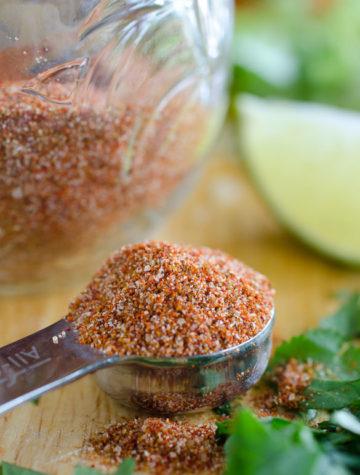 teaspoon of homemade taco seasoning