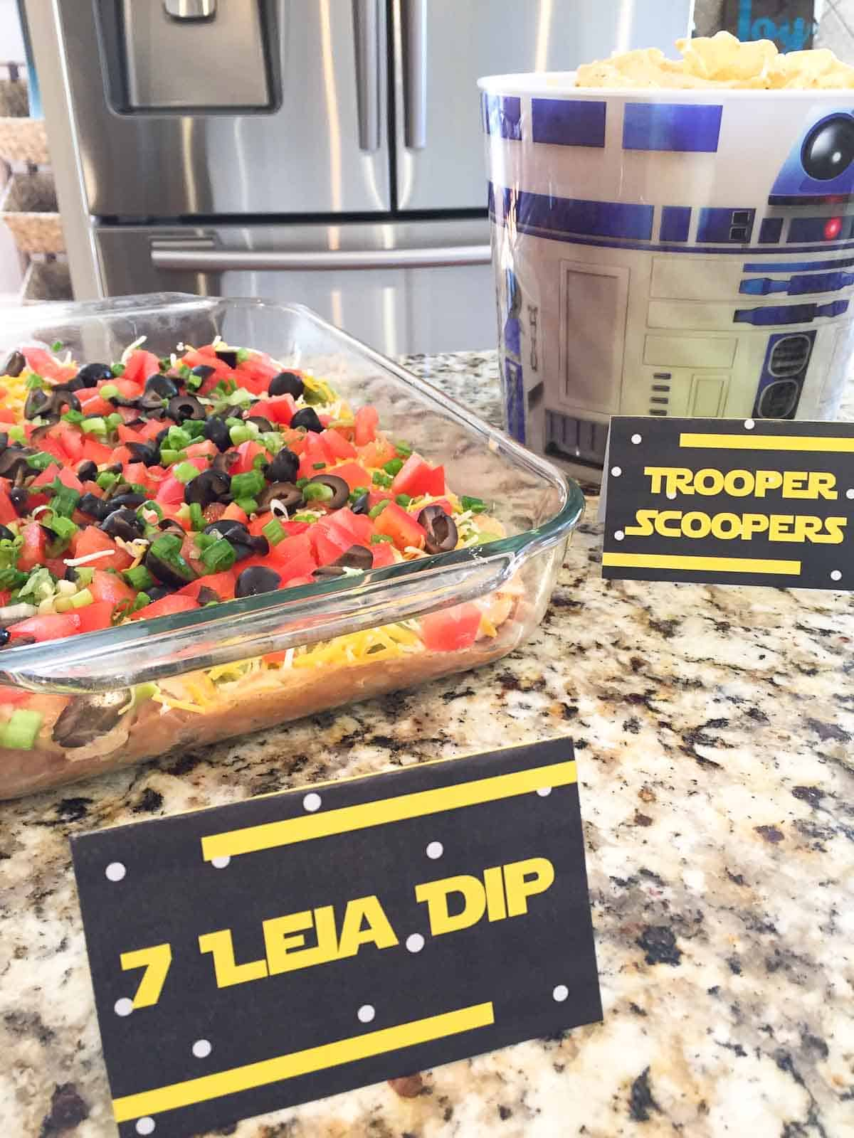 star wars recipe for 7 leia dip and trooper scoopers