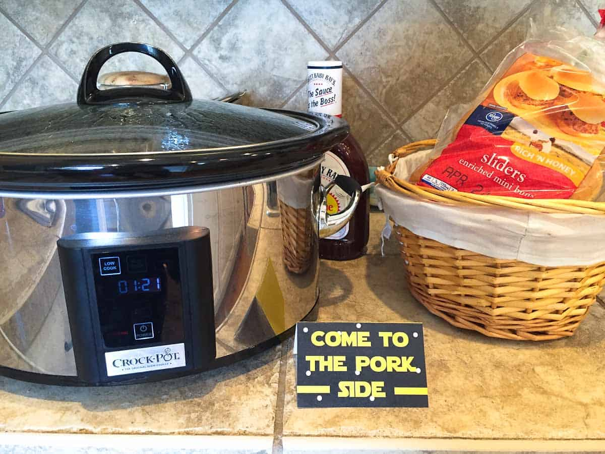 star wars recipe come to the pork side