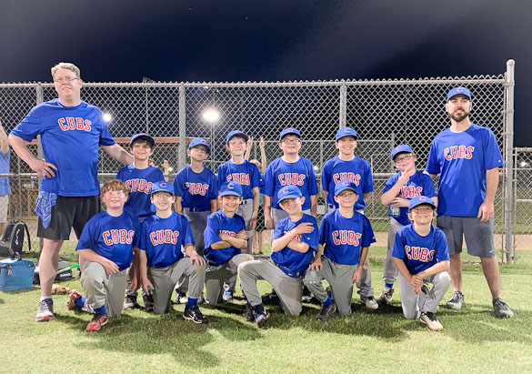 Little league Cubs team.
