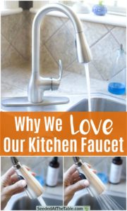Collage for kitchen faucet