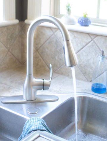 Moen kitchen faucet running water