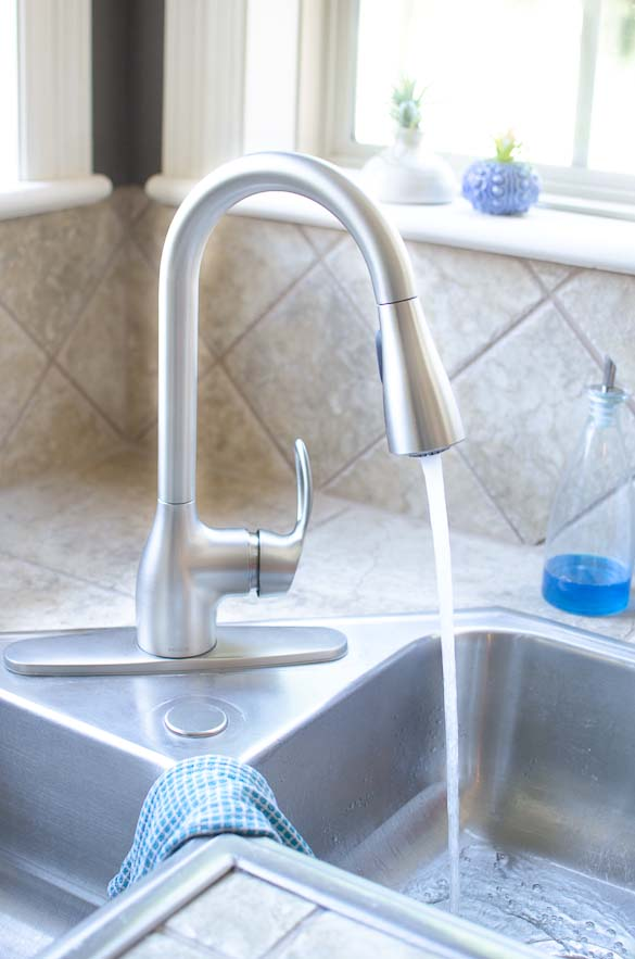 Moen kitchen faucet running water