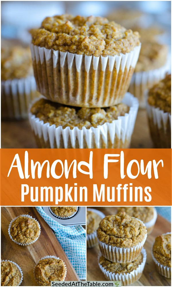 These easy Almond Flour Pumpkin Muffins are low-carb, gluten free and include no refined sugars. Using only one bowl, these Paleo pumpkin muffins are sweetened naturally and can be frozen for a convenient breakfast!