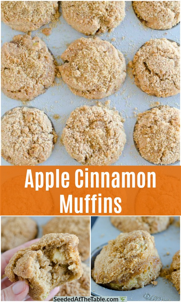 collage for apple muffins