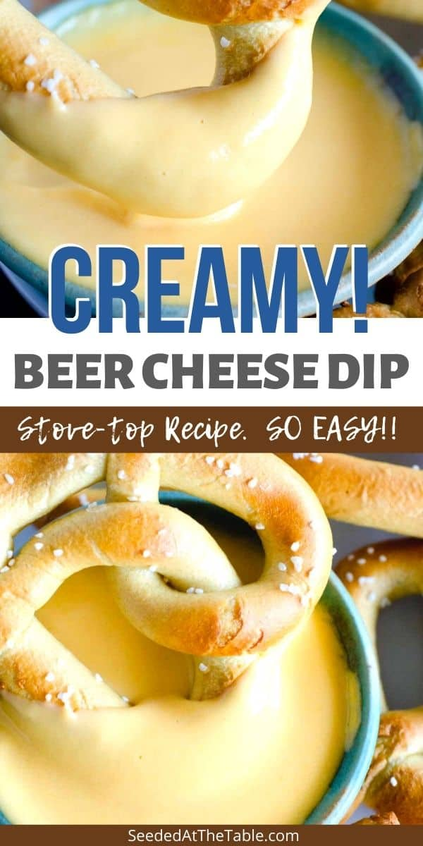 This beer cheese is the best dip for your pretzels or as a cheese fondue.  You can serve it hot or cold and use on burgers and sandwiches or slathered on your favorite bread!