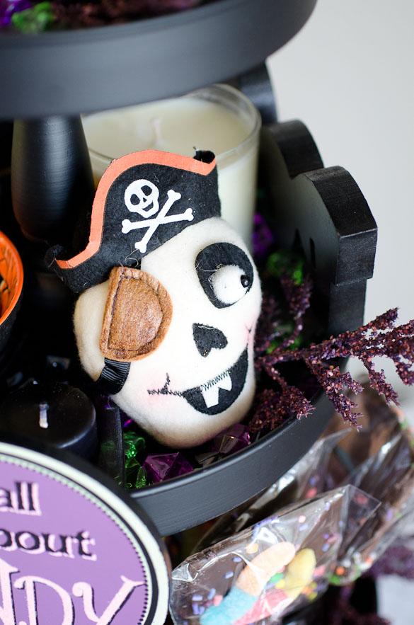 halloween pirate skull for halloween centerpiece