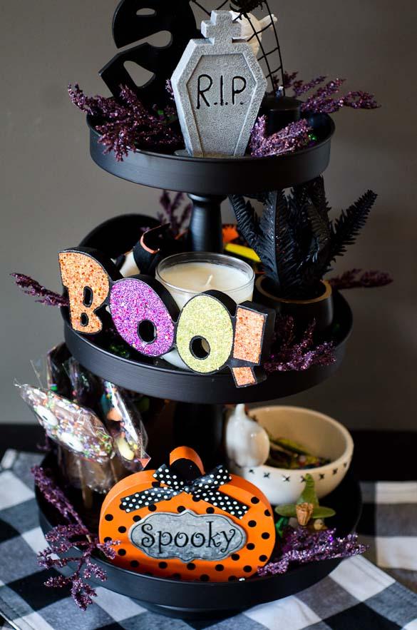 halloween tiered centerpiece