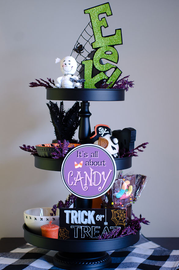 3-tiered halloween display