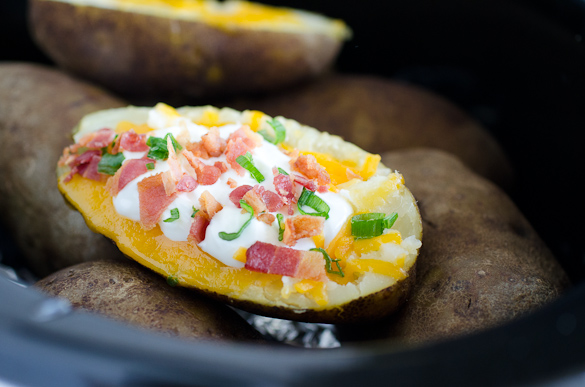 loaded baked potato with all the fixin's