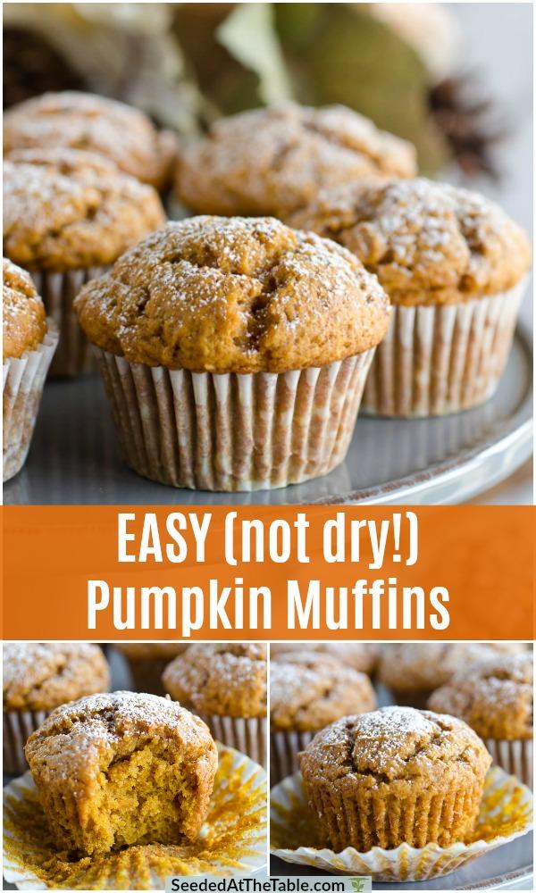 pinterest collage for pumpkin muffins