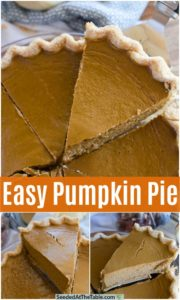 pinterest collage for pumpkin pie