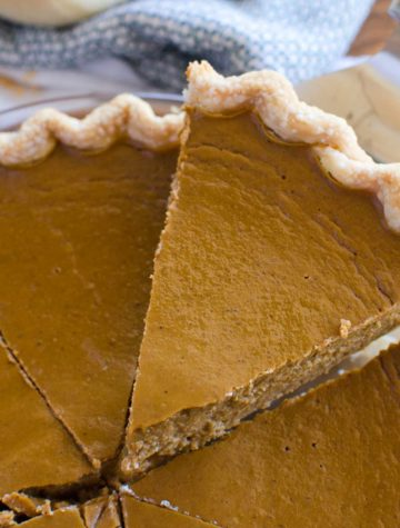 slice of pumpkin pie recipe