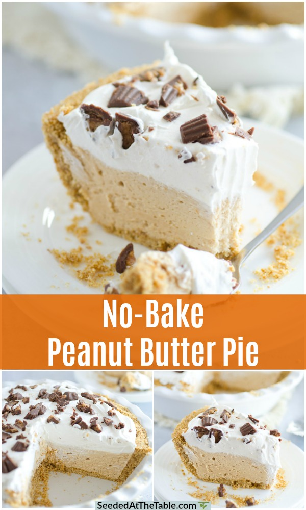 pinterest collage for peanut butter pie