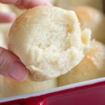 quick yeast rolls out of a pan