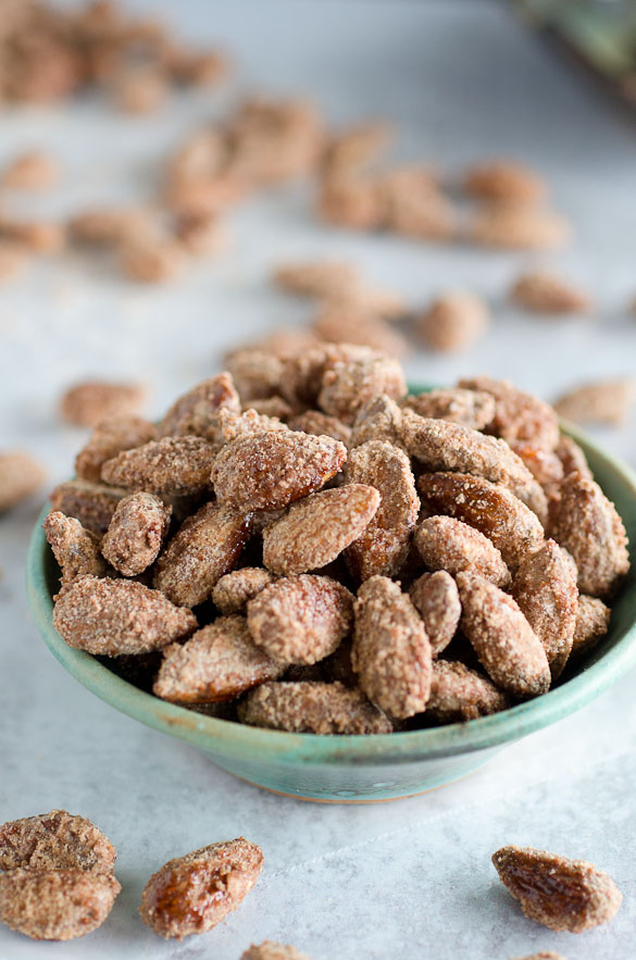 small bowl of candied nuts