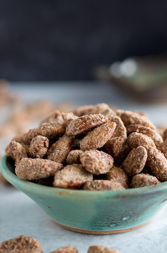 bowl of candied nuts