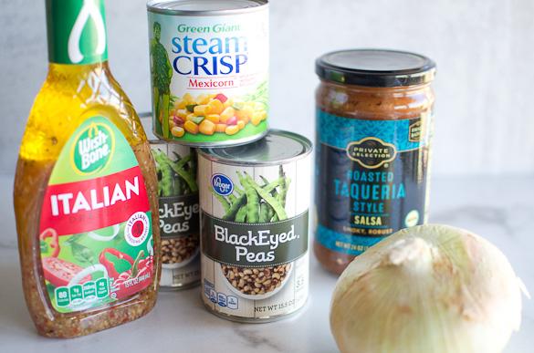 ingredients for black eyed pea dip