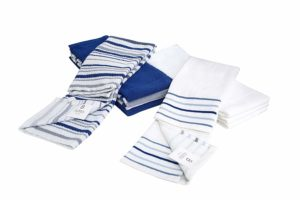 kitchen towel blue