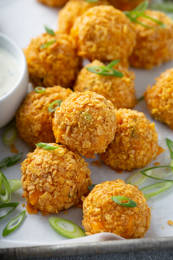 buffalo chicken bites with a crispy coating