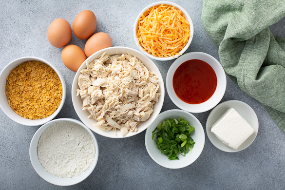 ingredients for buffalo chicken bites