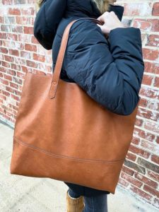large tan tote purse