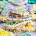 EASY King Cake Cracker Candy
