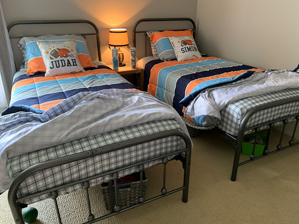 twin metal beds