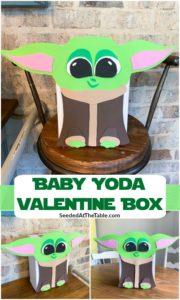 pinterest collage for baby yoda valentine box