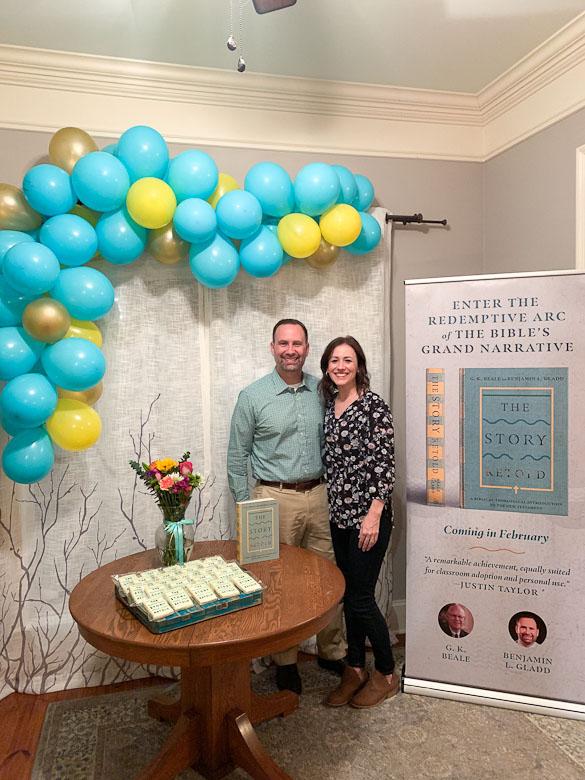 book release balloon banner