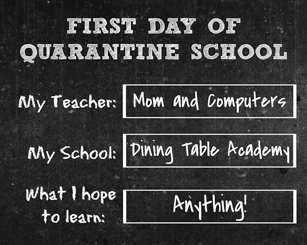 first day of quarantine school