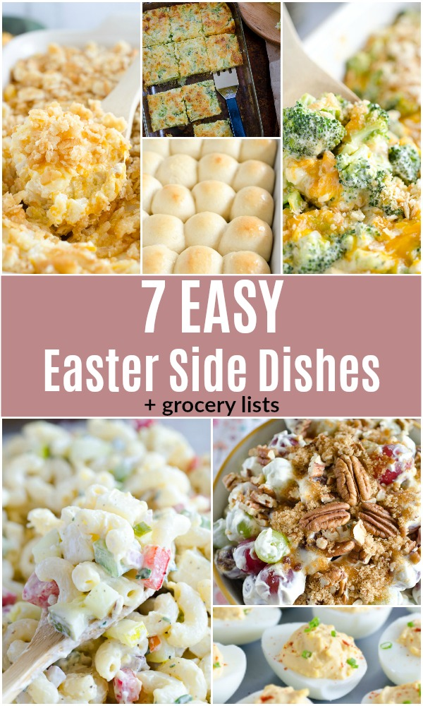 Try these Easter side dishes that are easy to throw together for a simple Easter dinner! We've provided grocery lists for each recipe so you can quickly grab what you need at the store if not already in your pantry.