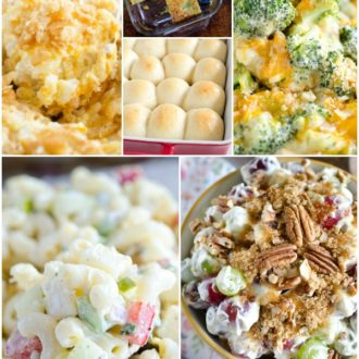 collage of easter side dishes