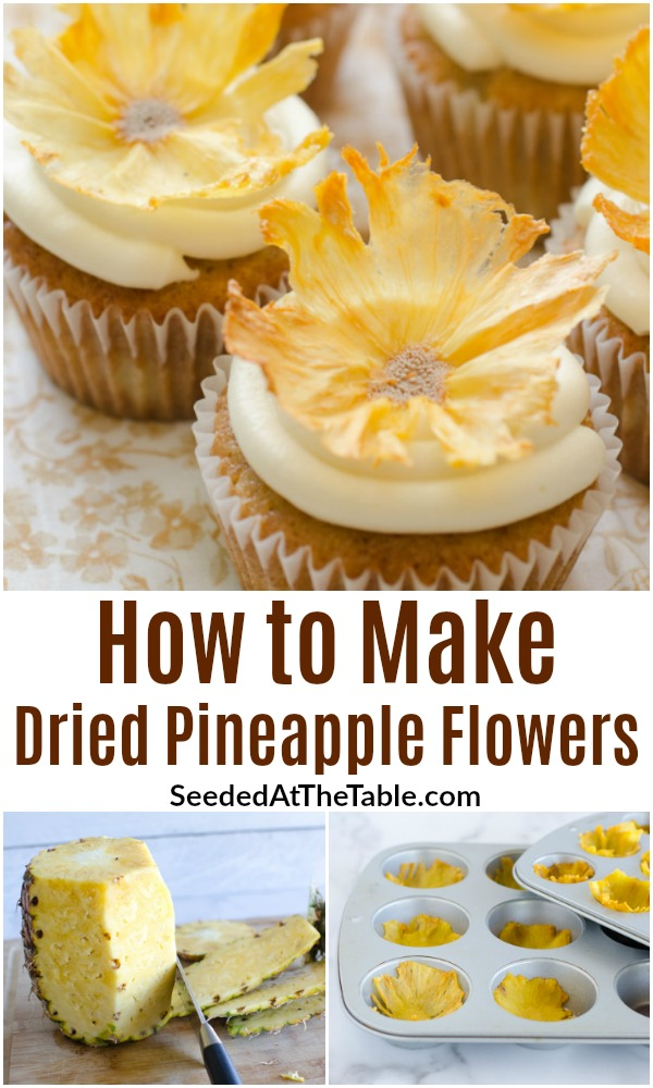 Dried pineapple flowers make a beautiful presentation on your cupcakes or dessert. Follow these steps on how to make flowers from pineapple slices.