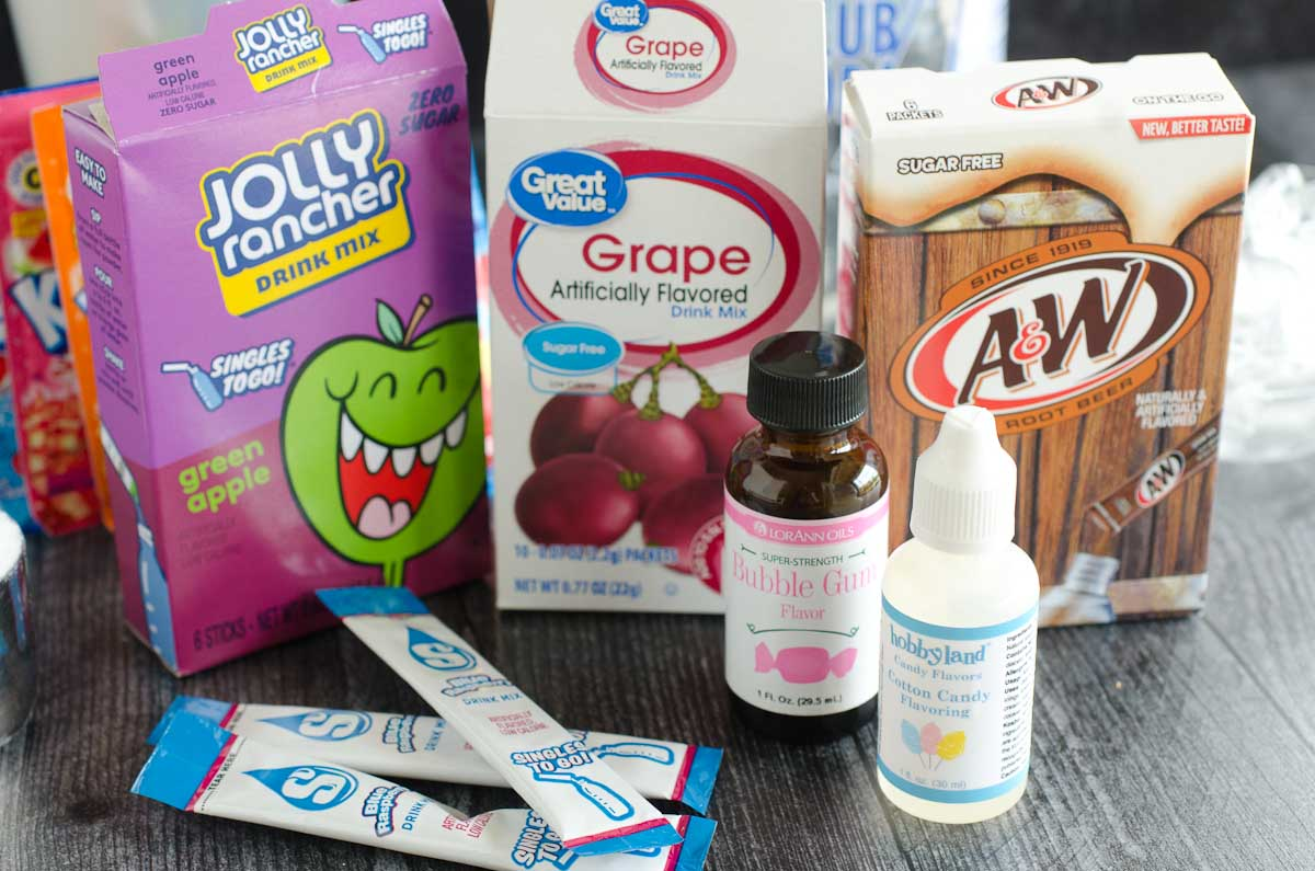 various powder drink flavors