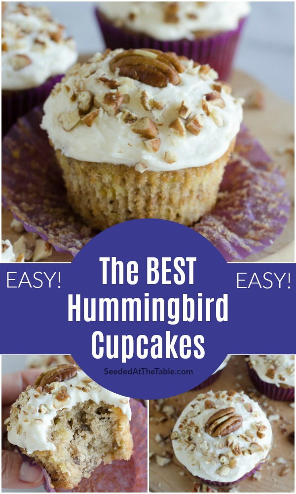 These hummingbird cupcakes are the most soft and moist cupcakes. Hummingbird cake is a soft banana-pineapple spice cake with a cream cheese frosting -- a southern classic!