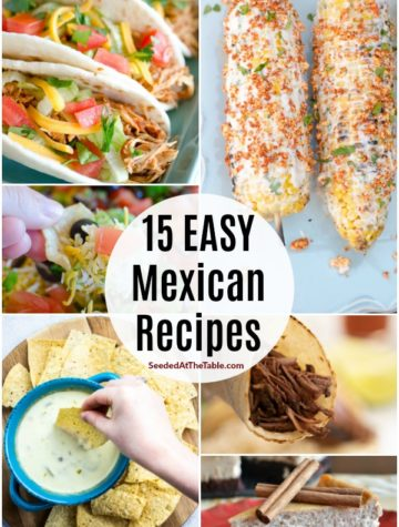 pinterest collage for mexican recipes