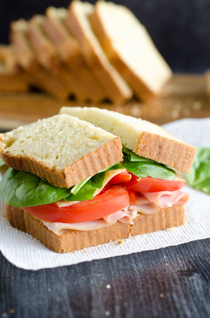 spinach ham and tomato sandwich