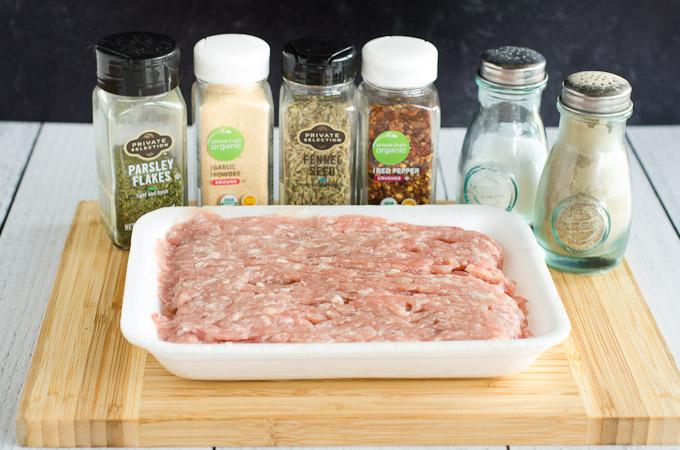 ingredients to make italian sausage